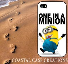 One In A Minion Despicable Me Minion Quote iPhone Case by CoastalCaseCreations, $16.00 if I had an I phone...
