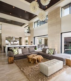 The New American Home 2013/Marquis Seven Hills - contemporary - Living Room - Las Vegas - Blue Heron Design-Build
