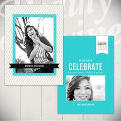 Senior Announcement Card Template Time To by BeautyDivineDesign, $8.00