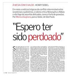 "Título: ""Espero ter sido perdoado"" Veículo: Valor Econômico. Data 25/7/2014 Cliente: Editora Alaúde"