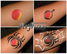 Simple face painting designs are not hard. Many people think that in order to have a great face painting creation, they have to use complex designs, rather then simple face painting designs. Face Painting Tips, Face Painting For Boys, Face Painting Tutorials, Belly Painting, Face Painting Designs, Paint Designs, Tole Painting, Cheek Art, Kids Makeup
