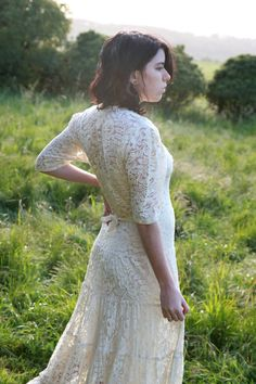 Lacy 1940s wedding dress [more at pinterest.com/eventsbygab]