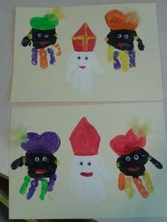Afbeeldingsresultaat voor knutselen sinterklaas babys Daycare Crafts, Baby Crafts, Preschool Crafts, Diy And Crafts, Arts And Crafts, Diy For Kids, Crafts For Kids, Toddler Age, Winter Art