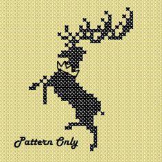 GoT House Baratheon Cross Stitch Pattern