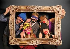 Picture frames are boring, but hire a photo booth as well and your guests can leave with a photo from that night in the frame.  Way cooler when you have something to put in it.