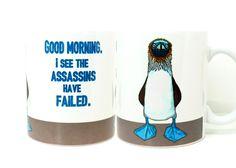 Blue Footed Boobie Assassin Mug - pinned by pin4etsy.com