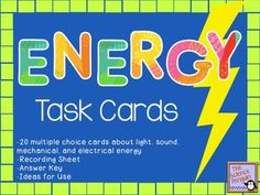 Forms of Energy Task Cards $