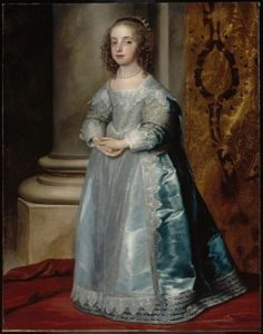 Mary Henrietta Stuart, daughter of Charles I, 6 years old 1637