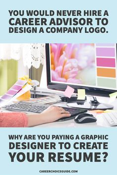You would never hire a career advisor to design a company logo. Why are you paying a graphic designer to create your resume? Resume Writing Tips, Resume Writer, Resume Tips, Resume Layout, Resume Design, Cover Letter Tips, Cover Letters, Career Advisor, Chronological Resume