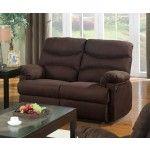 $608.30 Acme Furniture - Arcadia Chocolate Microfiber Motion Loveseat - 10631