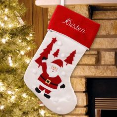 Shop our vast selection of Personalized Christmas stockings featuring our knit, plaid & mermaid designs. Our Christmas stockings are custom printed or embroidered in days & shipped fast. Over 100 Exclusive Stockings styles in stock! Happy Penguin, New Year Diy, Embroidered Christmas Stockings, Santa Stocking, Stocking Ideas, Personalized Stockings, Stocking Holders, Christmas And New Year, Santa Christmas