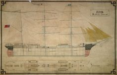A plan of the 'Scottish Admiral', built by William Doxford & Sons in 1878.