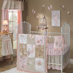 Butterfly Pink and Brown Patchwork Infant Baby Girl Nursery Crib Bedding Set Baby Crib Bedding Sets, Girls Bedding Sets, Crib Sets, Kohls Bedding, Girl Nursery, Girl Room, Nursery Ideas, Nursery Crib, Room Ideas