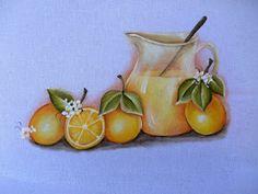 A laranjada colore o pano de copa,      Uvas, pães e vinho      Maças apetitosas.     Abraços seguidoras e bom fim de semana.     Pintur...