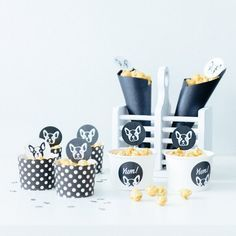 Popcorn cups from a