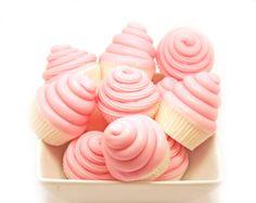 Set of 6 Mini Cupcake Soap Favors - Vegan Soap - Decorative Soap - Pink Soap Party Favors