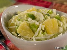 This good-for-you Cabbage Patch Slaw uses a special sweet ingredient to really dress up the flavor. It's an anytime coleslaw recipe you'll want to eat over and over again. Sugar Free Diabetic Recipes, Low Carb Recipes, Cooking Recipes, Diabetic Foods, Yummy Recipes, Healthy Coleslaw Recipes, Salad Recipes, Hungry Girl Recipes, Vegetarian Main Dishes