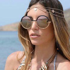 Classic round metal Sunglasses MMJ 437 by Athina Oikonomakou #sunglasses #shades #fashion #streetstyle #bloggers #models #topmodels #gafas #gafasdesol #lunettesdesoleil #occhialidasole