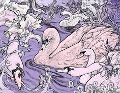 Graphic illustration by Viktor Gornostaev - The Swan Kingdom (2013) #sokrovvenno #gornostaev #gornostaevv #art #arts #graphics #graphic #artoftheday #picture #artist #gallery #masterpiece #creative #design #abstract #composition #geometry #artwork #design #illustration #photo #blackandwhite #digitalart #canvas #painting #drawing