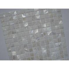Mother Of Pearl Tile Shower Liner Wall Backsplash White Square Bathroom  Shell Mosaic Tiles MH