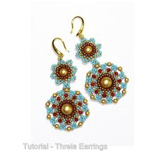 Tutorial Threia Earrings by bybeejang on Etsy, $7.00