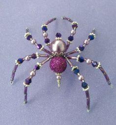 Christmas-Spider-Purple-Swarovski-Glass-Tinsel-Legend-Halloween-Decoration