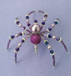 Christmas-Spider-Purple-Swarovski-Glass-Tinsel-Legend-Halloween-Decoration