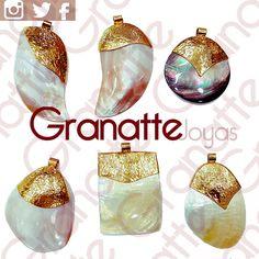 #dijes #madreperla #perla #perlas #goldfilled #dijes #vanidad #moda #joyas #accesorios #granatte #mujer