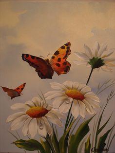 Margarida e borboletas