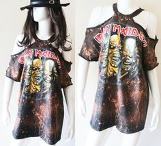 Iron Maiden Bleached Sexy Rocker mini dress or by RockncomicsLA