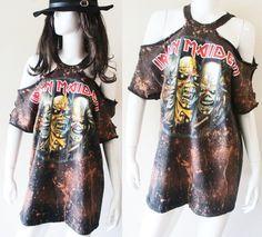 Iron Maiden Bleached Sexy Rocker mini dress or by RockncomicsLA