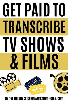 Get Paid to Transcribe Films & TV Shows. Get media & entertainment transcription work from home. Transcribe television shows, films, movies, videos, radio and television broadcasts, news programs, documentaries, and podcasts. #transcription #onlinejobs #remotejobs #workfromhome Transcription Jobs From Home, Transcription Jobs For Beginners, Make More Money, Make Money From Home, Extra Money, Extra Cash, Typing Jobs, Legitimate Work From Home, Work From Home Opportunities