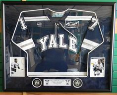 Yale University Sends Our Team to Mandi's Hometown: Thank You! Framed Jersey, Saskatchewan Canada, University, Colleges