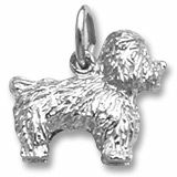 Checkout CharmsToTreasure.com, The Place To Get Your Sterling Silver & Gold Charms for Charm Bracelets Special White Gold Charms | Gold Bichon Frise Charm #charmstotreasure