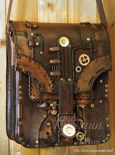 steampunk messenger bag