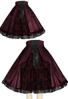 Victorian Goth Skirt --ChicStar design by Amber Middaugh
