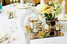 table settings for dinner | Table Setting For Wedding Dinner Stock Photography - Image: 25432092
