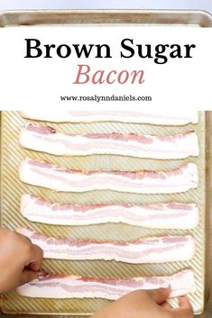 If bacon is your favorite food then you're going to love my Brown Sugar Bacon recipe. The perfect balance of salty and sweet, this bacon will be for the taking! Make Brown Sugar, Brown Sugar Bacon, How To Make Brown, Man Food, Brunch Wedding, Bacon Recipes, Breakfast Recipes, Breakfast Ideas, Grocery Store