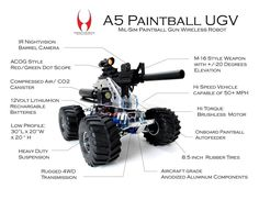 A5 Paintball UGV - http://inspectorbots.com/Bot_Photos/Pages/Robotic_Weapon.html