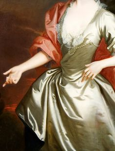 Allan Ramsay:  Portrait of Lady Susanna Campbell, 1740. (detail)