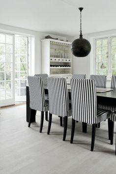 interior: black and white