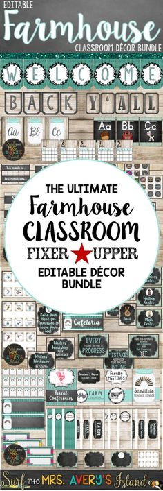 My Farmhouse Classroom Decor Bundle is a perfect back to school resource to help. My Farmhouse Classroom Decor Bundle is a perfect back to school resource to help teachers with classroom organization an. Classroom Decor Themes, Classroom Setting, Classroom Setup, Classroom Design, Kindergarten Classroom, School Classroom, Classroom Organization, Classroom Management, Future Classroom