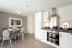 Light and bright kitchens Kitchen Diner Designs, Open Plan Kitchen Diner, New Kitchen, Kitchen Ideas, Bright Kitchens, Home Kitchens, Modern Kitchens, Interior Design Inspiration, Design Ideas