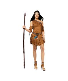 Pow Wow Women Indian Costume - <p>Gather round for one pow wow celebration you won't soon forget! This Pow Wow Women's Costume is oozing with raw, unbridled sex appeal.
