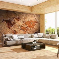 Fototapete Weltkarte Landkarte Kontinent 400x280 Cm XXL VLIES TAPETE    Moderne Wanddeko   Fototapete 3D Illusion