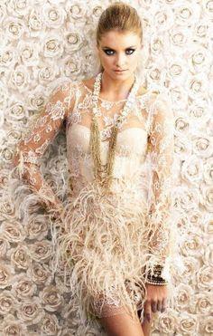@roressclothes clothing ideas #women fashion white little feather dress