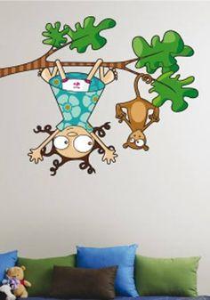 stiker murale original pour chambre de fille. Stickers colorés pour égayer la chambre d'une petite fille. Création Série-Golo. Made in France.