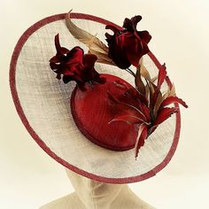 Women S Fashion Designer Brands Product Sinamay Hats, Fascinator Hats, Fascinators, Headpieces, Kentucky, Derby Attire, Fancy Hats, Big Hats, Love Hat