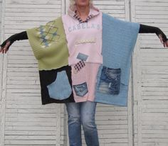 Reserved Hoodie Kaftan Upcycled Clothing Recycled by AnikaDesigns