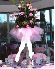 bat mitzvah centerpieces ballerina - Google Search
